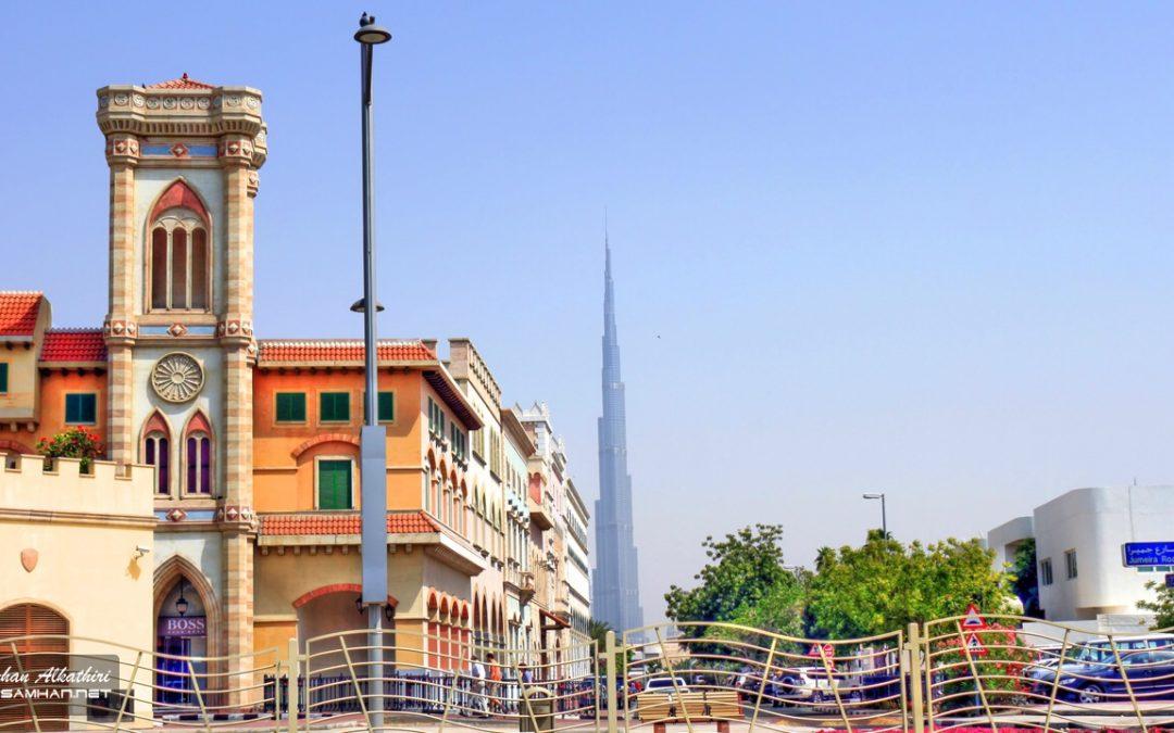 برج دبي x عمود أنارة!